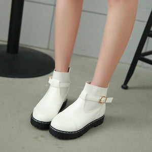 Buckle Ankle Boots Women Shoes Fall|Winter 4922