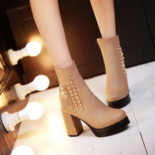 Load image into Gallery viewer, Skull Ankle Boots High Heels Women Shoes Fall|Winter 8946