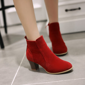 Flock Ankle Boots High Heels Women Shoes Fall|Winter 1375