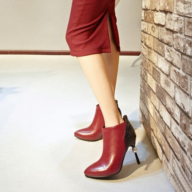 Ankle Boots High Heels Stiletto Heel Shoes Woman