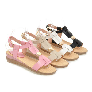 Summer Sandals Flat Shoes Woman Size 34-39