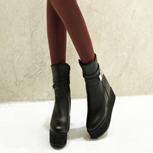 Load image into Gallery viewer, Women Ankle Boots Wedges Buckle Platform Shoes Woman 2016 3380