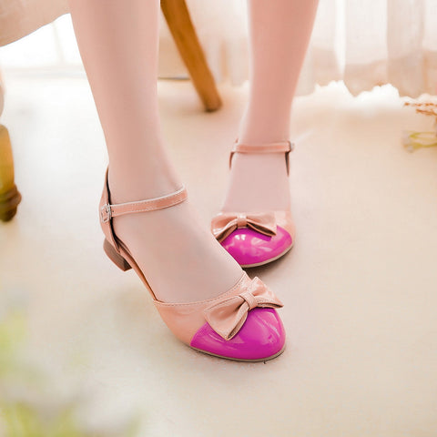 Bow-Ankle-Straps-Sandals-Women-Pumps-Shoes 4563
