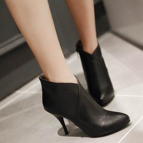 Ankle Boots Stiletto Heel Women Shoes Fall|Winter 5073