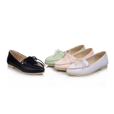 Lace Up Flats Women Shoes 6678