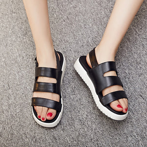 Women Flat Sandals with Buckle Shoes