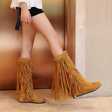 Load image into Gallery viewer, Over the Knee Boots High Heels Pu Leather Women Shoes