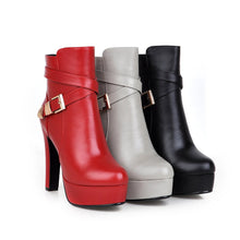 Load image into Gallery viewer, Fashion Ankle Boots High Heels Women Shoes Fall|Winter 5225