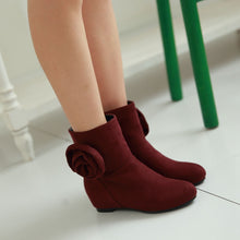 Load image into Gallery viewer, Flower Wedges Boots Women Shoes Fall|Winter 11191501