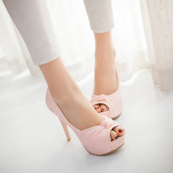 Summer Fish Head Spike Sandals Pumps Platform High-heeled Shoes Woman