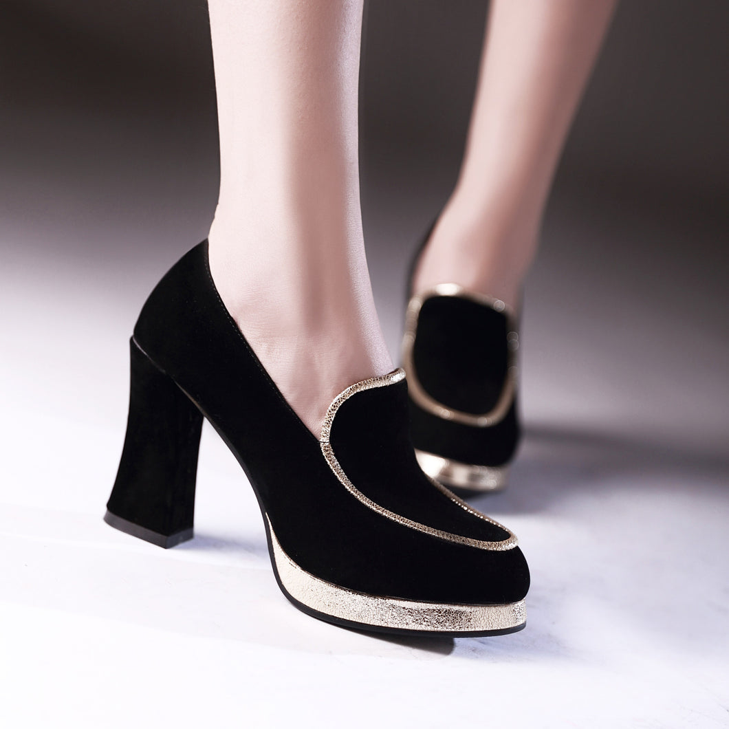 Fashion Women Pumps Platform High Heels Dress Shoes 7850