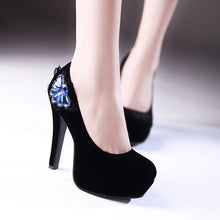 Load image into Gallery viewer, Rhinestone Pumps High Heels Platform Wedding Shoes Woman
