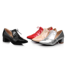 Load image into Gallery viewer, Pointed Toe Lace Up Pumps Platform High Heels Women Shoes 5002