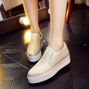 Women Wedges Loafers Platform Shoes