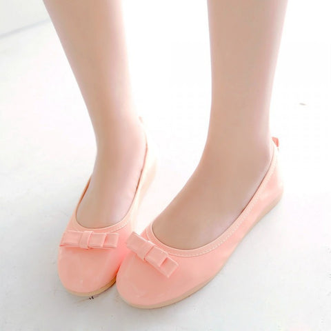 Candy Color Bow Women Dance Flats Slip on Shoes 6759