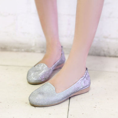 Gum Sole Flat Loafers Slip-on Dance Shoes 8141