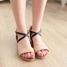 Load image into Gallery viewer, Ankle-Straps-Flats-Sandals-Women-Shoes 5824
