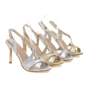 Stiletto Heel Sandals Pumps Party High-heeled Shoes Woman