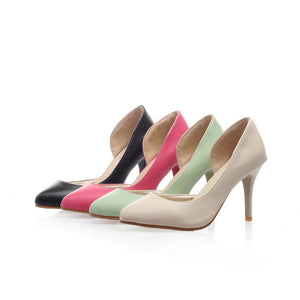 Ankle Straps Stiletto Heel Pumps Pointed Toe High Heels Fashion Women Shoes 9496