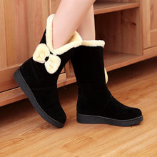 Load image into Gallery viewer, Women Snow Boots Fur Inside Bowtie Winter Shoes Woman 2016 3508