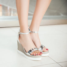 Load image into Gallery viewer, Ankle Straps Wedges Sandals Women Platform Shoes Woman