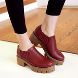 Womens High Heel Casual Shoes Lady Platform Pumps