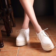 Load image into Gallery viewer, Lace Up Wedges Platform High Heels Women Shoes 4631