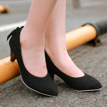 Load image into Gallery viewer, Women Pumps Pointed Toe High Heels Back Bowtie Shoes Woman 3415