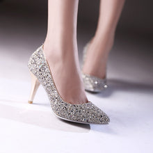 Load image into Gallery viewer, Glitter Women Pumps High Heels Dress Shoes 4142