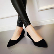 Load image into Gallery viewer, Faux Suede Pointed Toe Wedges Heels Women 1641