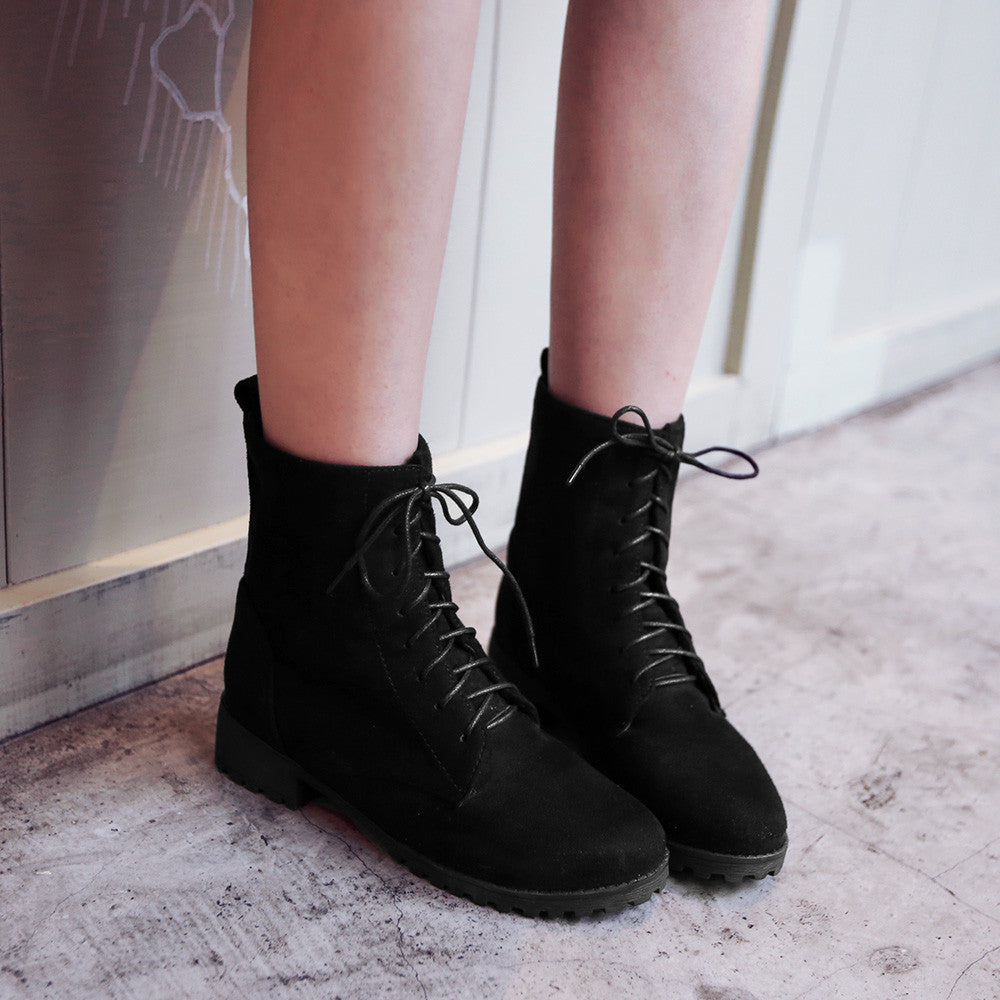 Lace Up Ankle Boots Women Shoes Fall|Winter 1805