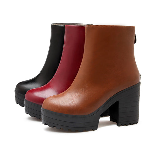 Ankle Boots High Heels Thick Heel Women Shoes Fall|Winter 5081