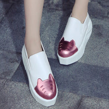 Load image into Gallery viewer, Women Wedges Slip on Loafers Platform Shoes