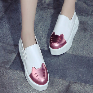Women Wedges Slip on Loafers Platform Shoes