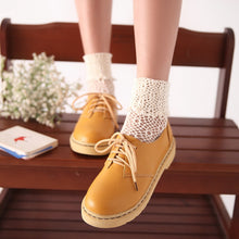 Load image into Gallery viewer, Lace Up Women Flats Platform Shoes 2808