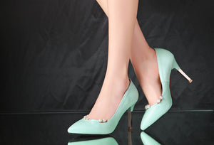 Pearl Party Pumps High Heels Fashion Women Shoes 5539