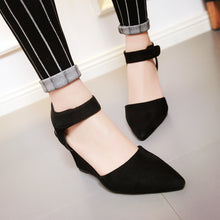 Load image into Gallery viewer, Sandals Ankle Straps Wedges Platform Women Shoes 3 Colors