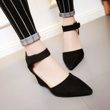 Sandals Ankle Straps Wedges Platform Women Shoes 3 Colors