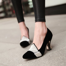 Load image into Gallery viewer, Pointed Toe Rhinestone Women Pumps High Heels Dress Shoes 9258