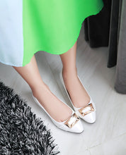 Load image into Gallery viewer, Women Pumps Pointed Toe Sequined Pu Leather Jelly Shoes Woman 3431