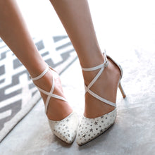 Load image into Gallery viewer, Fashion Star Pattern Sandals Pumps Stiletto Heel High Heels Women Dress Shoes 9635