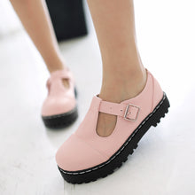 Load image into Gallery viewer, Women T Straps Buckle Flats Shoes  7297