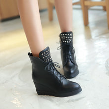 Load image into Gallery viewer, Studded Wedges Boots High Heels Women Shoes Fall|Winter 4870