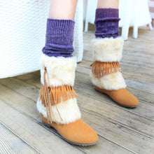 Load image into Gallery viewer, Tassel Snow Boots Suede Winter Wedges Women Shoes