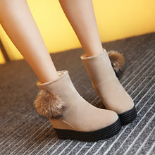 Load image into Gallery viewer, Fur Wedges Snow Boots Women Platform Shoes Fall|Winter 1205