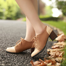 Load image into Gallery viewer, Lace Up Women Chunky Heel Pumps High Heels Shoes 3214