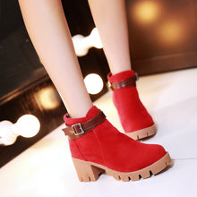 Load image into Gallery viewer, Buckle High Heels Boots Women Shoes Fall|Winter 1943