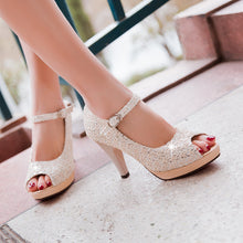 Load image into Gallery viewer, Platform Sandals Ankle Straps Lace Women Pumps High Heels Shoes Woman 3549