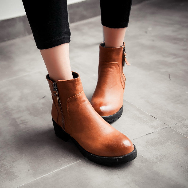 Zipper Ankle Boots High Heels Women Shoes Fall|Winter 9709