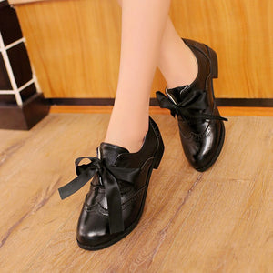 Casual Ribbons Bow Oxfords Women Shoes